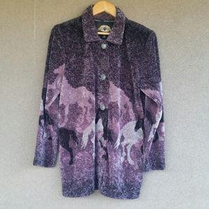 NWT County Clothing Galloping Horses Barn Jacket